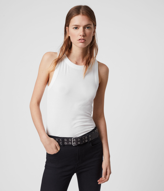 AllSaints Women's Lightweight Super Soft Rina Tank Top, White, Size: XS