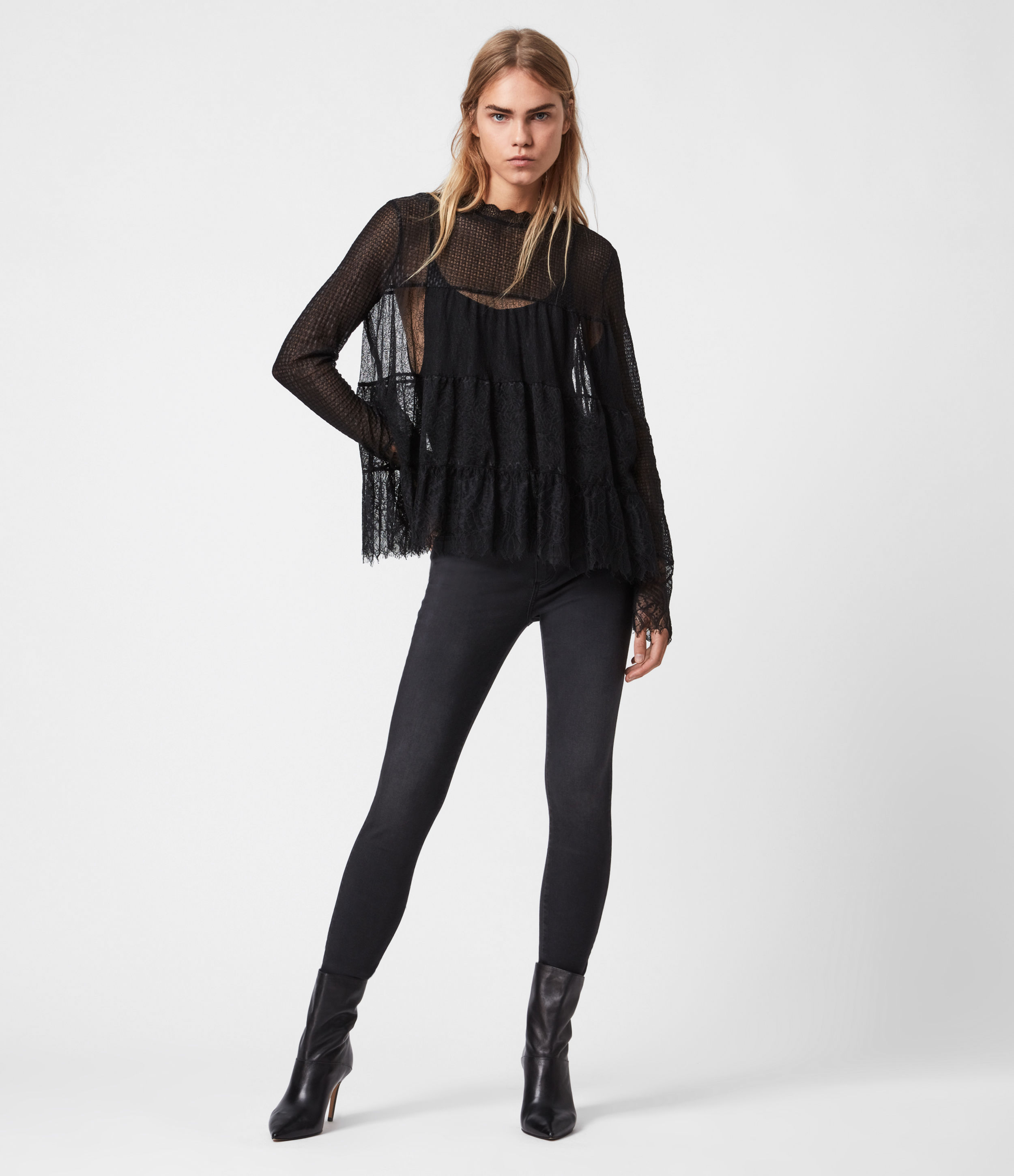 AllSaints Briella Lace Top