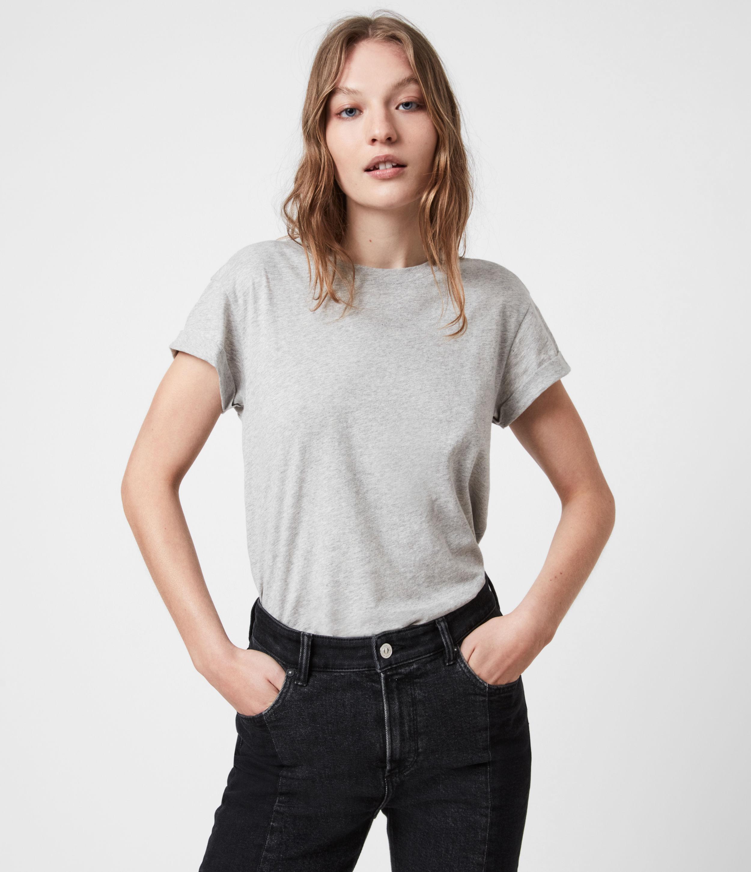 AllSaints Women's Anna T-Shirt, Grey Marl, Size: 4