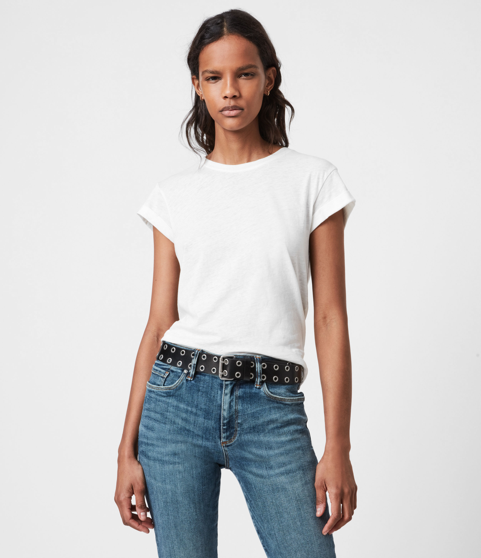 AllSaints Womens Anna T-Shirt, White, Size: 6