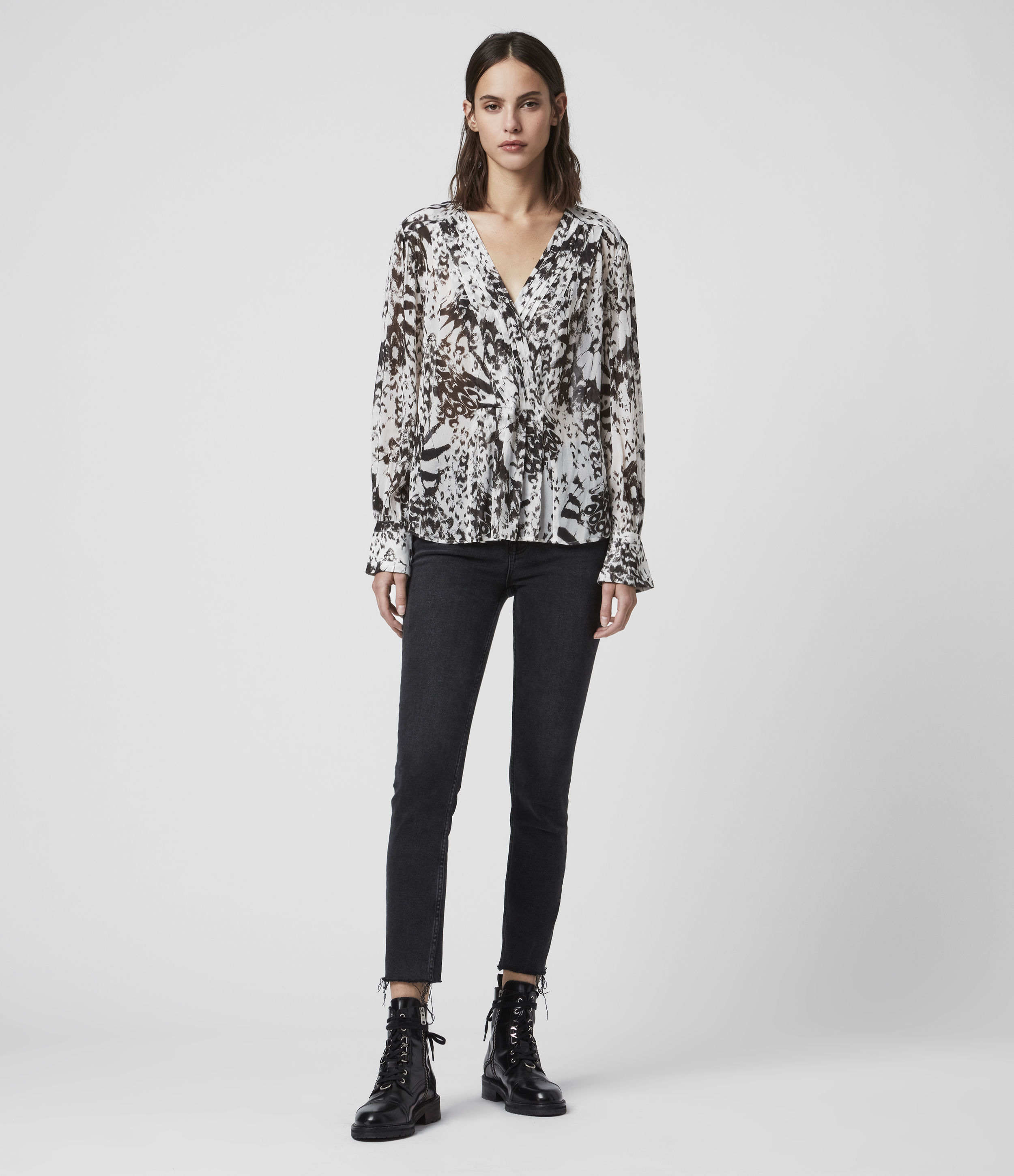 AllSaints Sheril Wing Top
