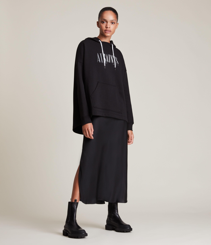 AllSaints Women's Etienne Hoodie, Black, Size: XS