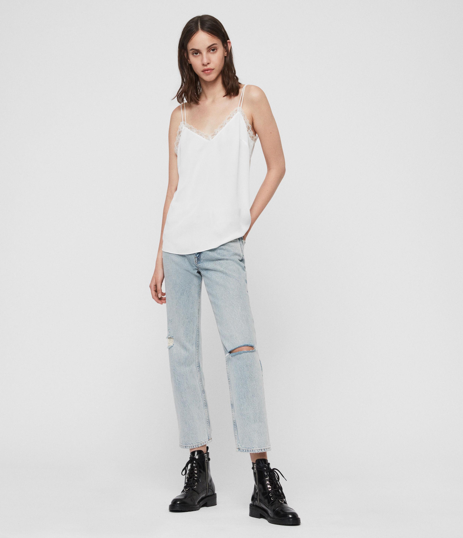 AllSaints Women's Nia Top, White, Size: L