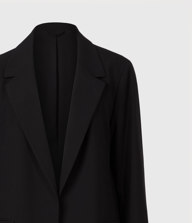 AllSaints Women's Traditional Aleida Duster Coat, Black, Size: 12