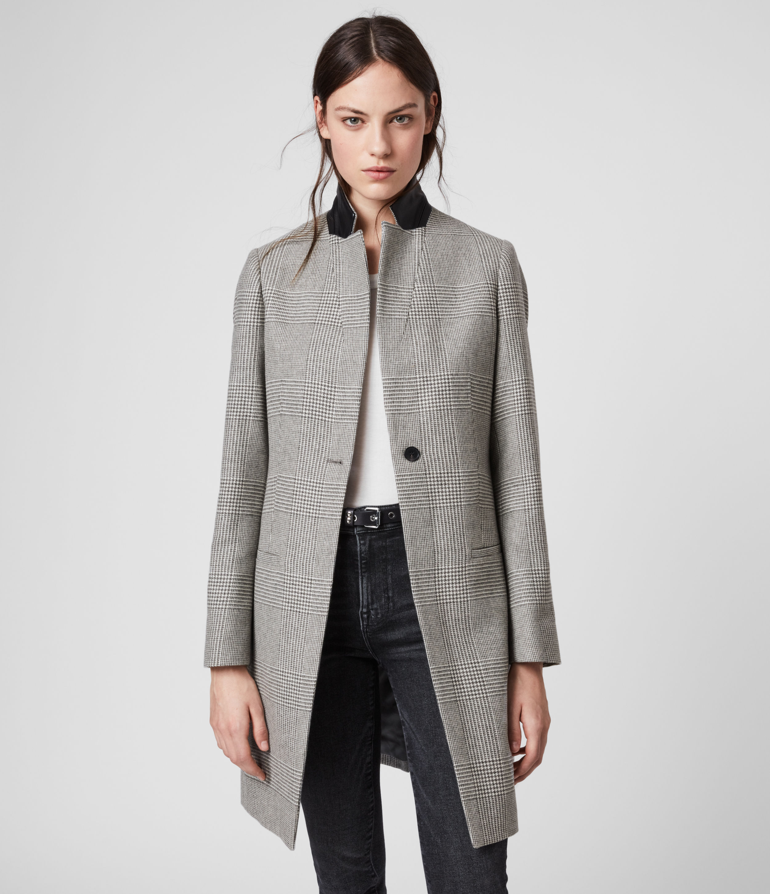 AllSaints Leni Check Coat