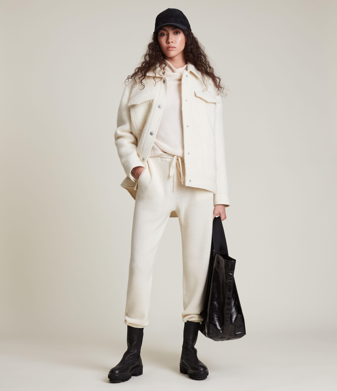 AllSaints Women's Faye Jacket, Off White, Size: 10
