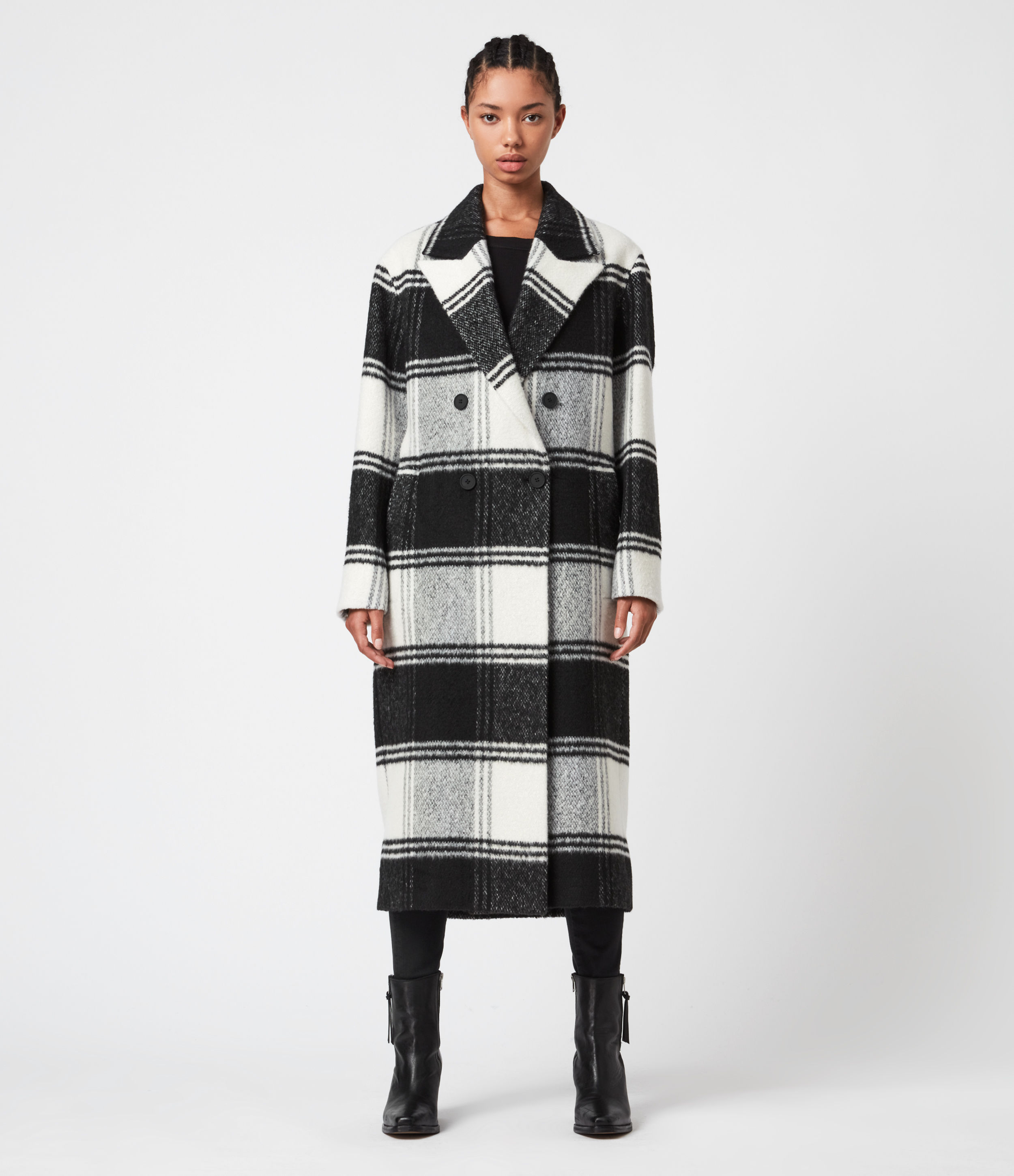 AllSaints Lottie Check Coat