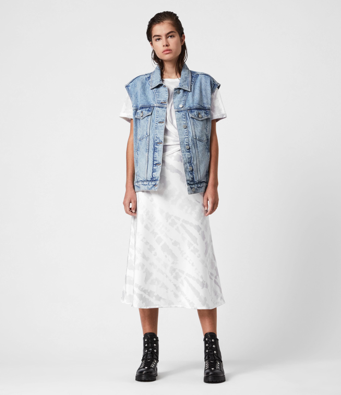 AllSaints Women's Alva Denim Vest, Indigo Blue, Size: S