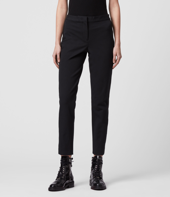 AllSaints Arie Lea Mid-Rise Cropped Slim Trousers
