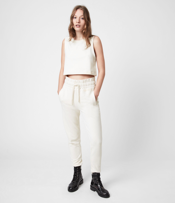 AllSaints Women's Lila Cropped Sweatpants, Ecru White, Size: 4