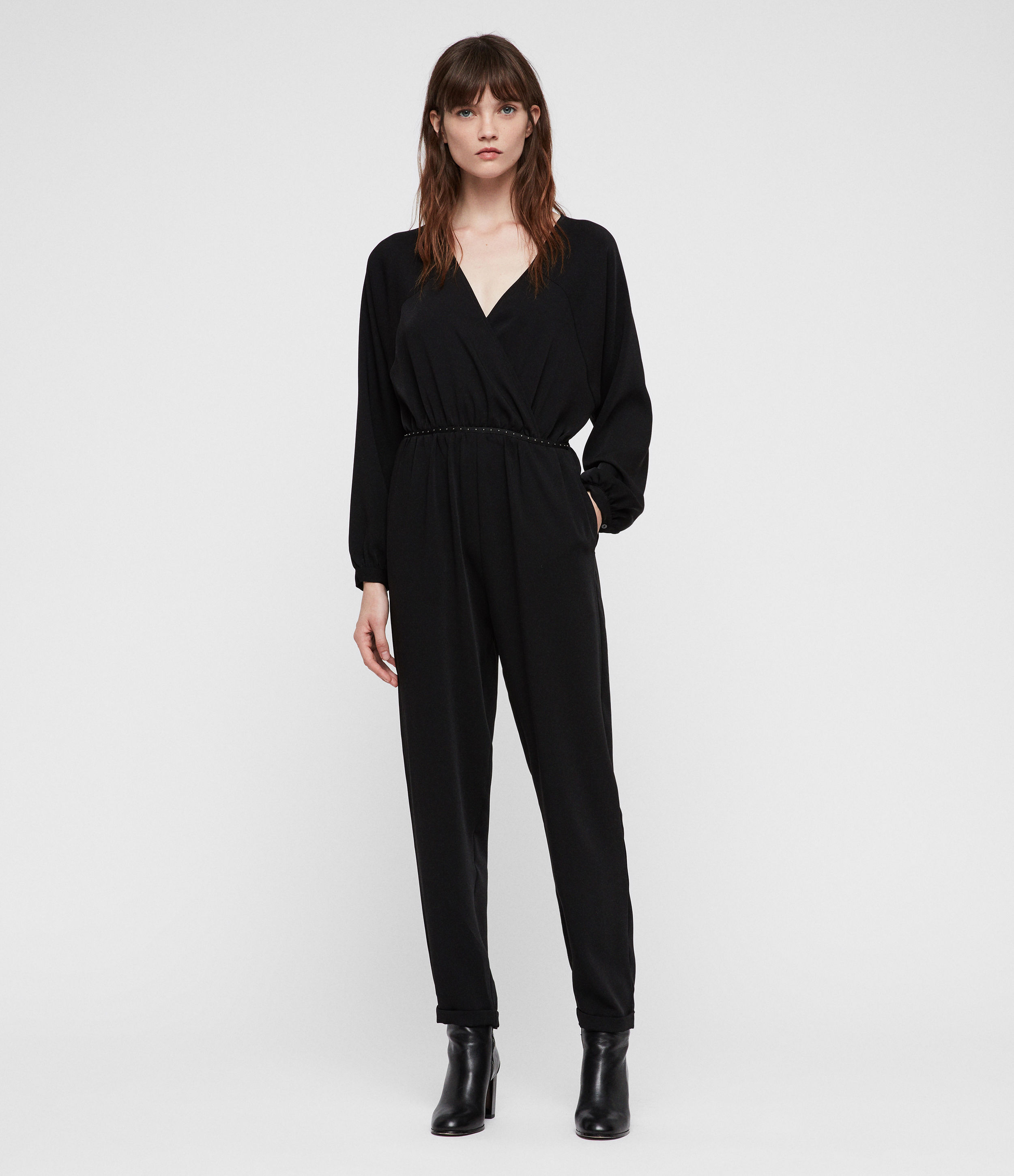 AllSaints Women's Lightweight Molli Jumpsuit, Black, Size: UK 2/US 00