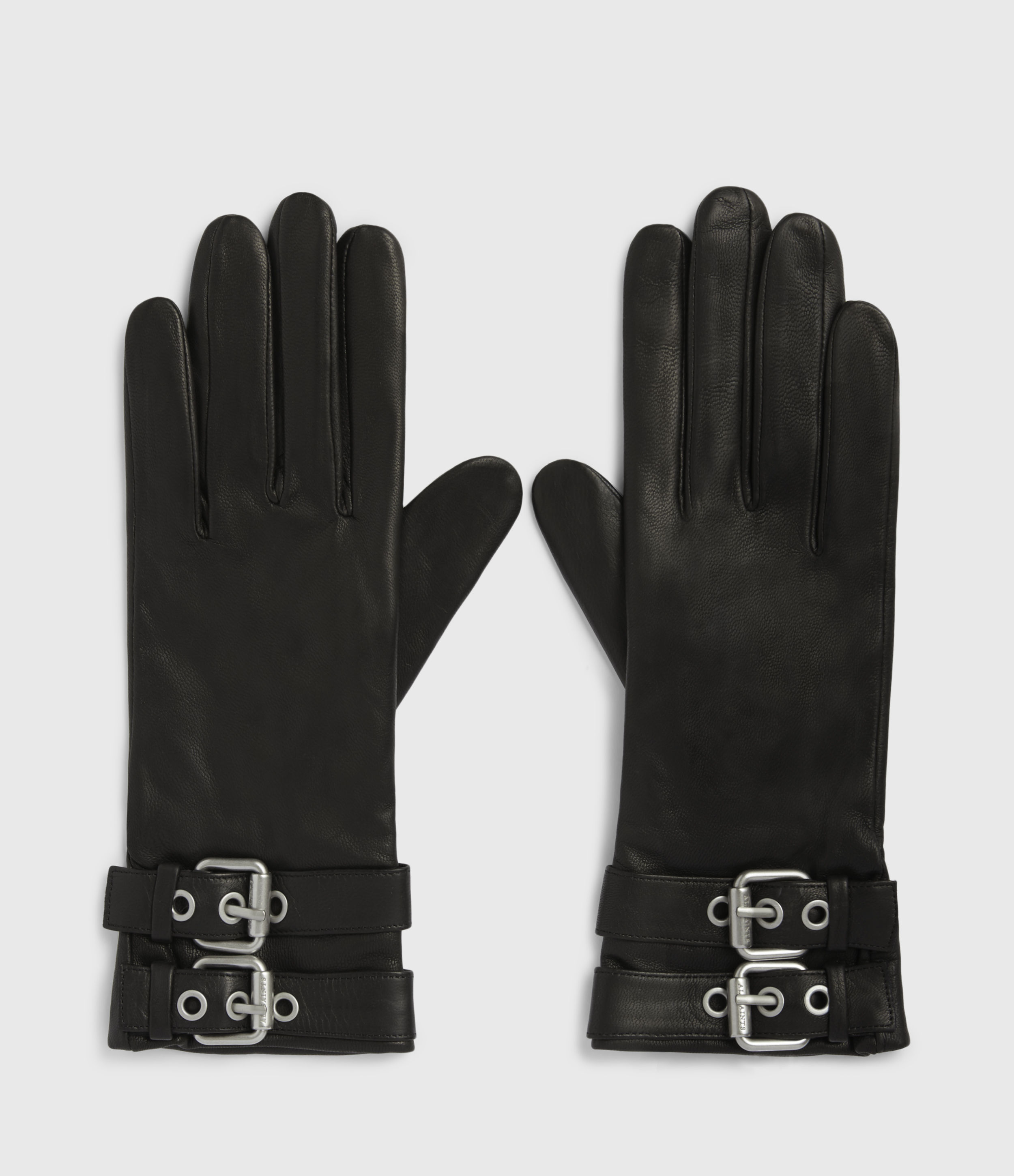 AllSaints Oren Leather Zip Gloves