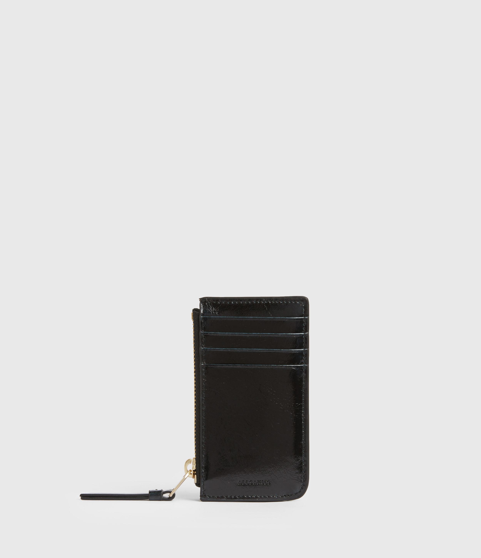 AllSaints Womens Marlborough Leather Wallet, Squid INK Blue