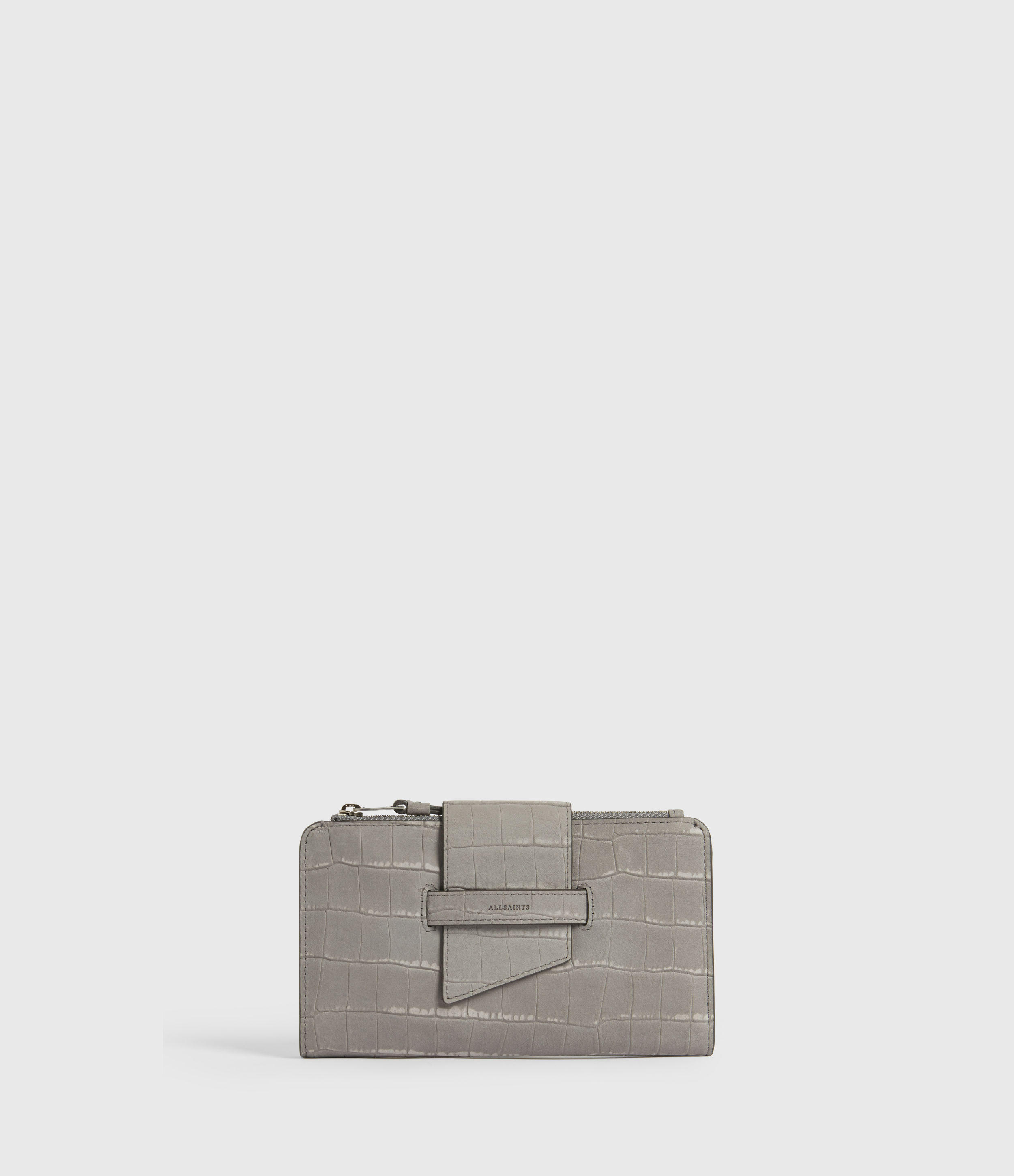 AllSaints Ray Crocodile Leather Wallet