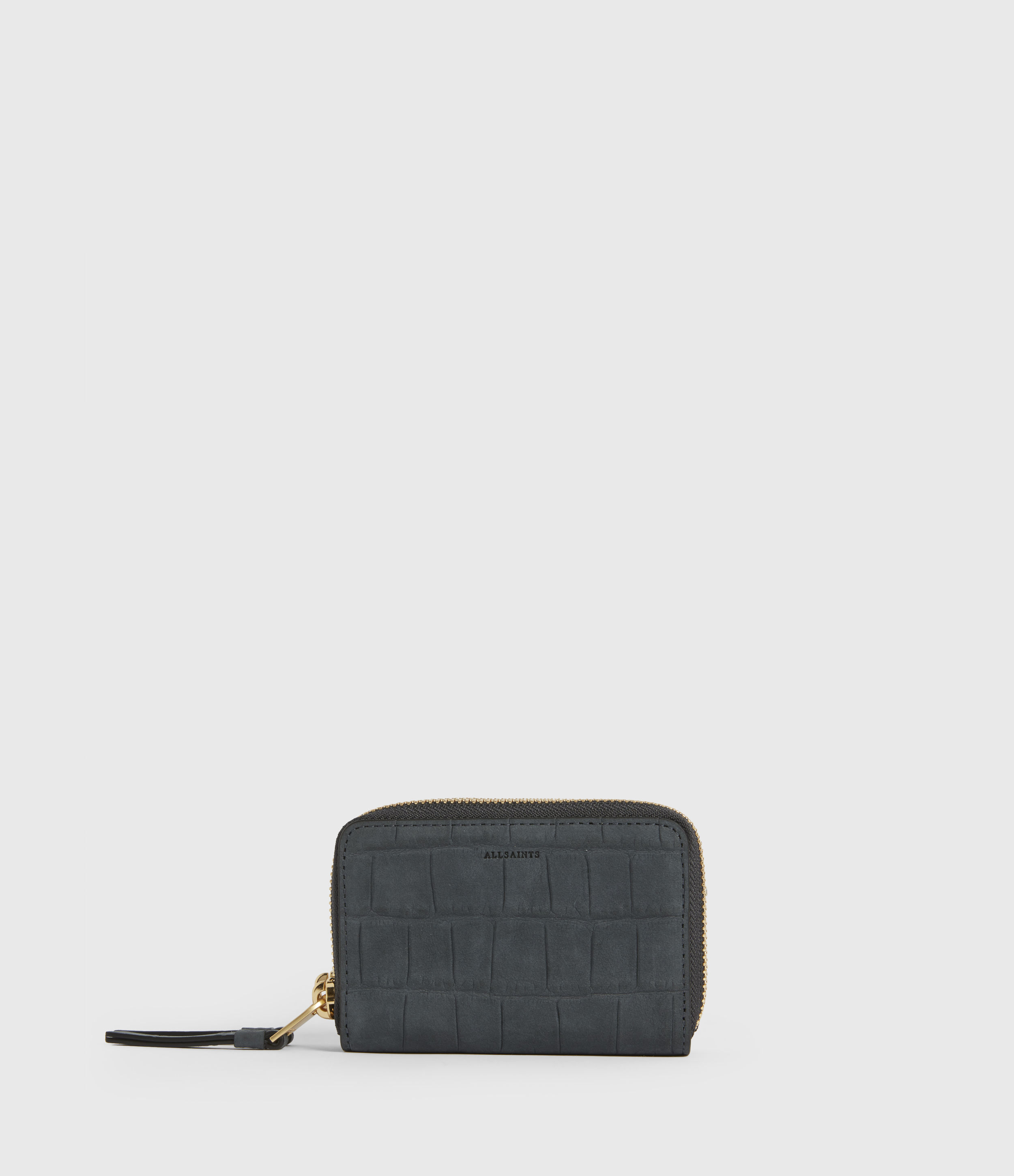 AllSaints Nantes Croco Leather Cardholder
