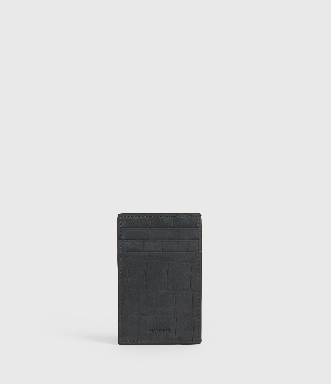 AllSaints Anabel Croc Leather Card Case