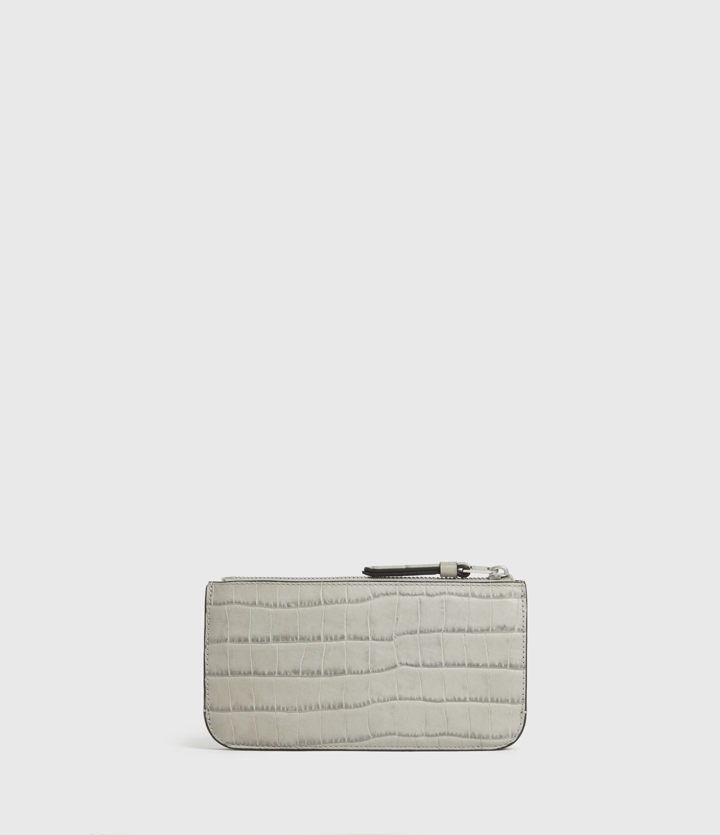 AllSaints St James Crocodile Leather Wallet