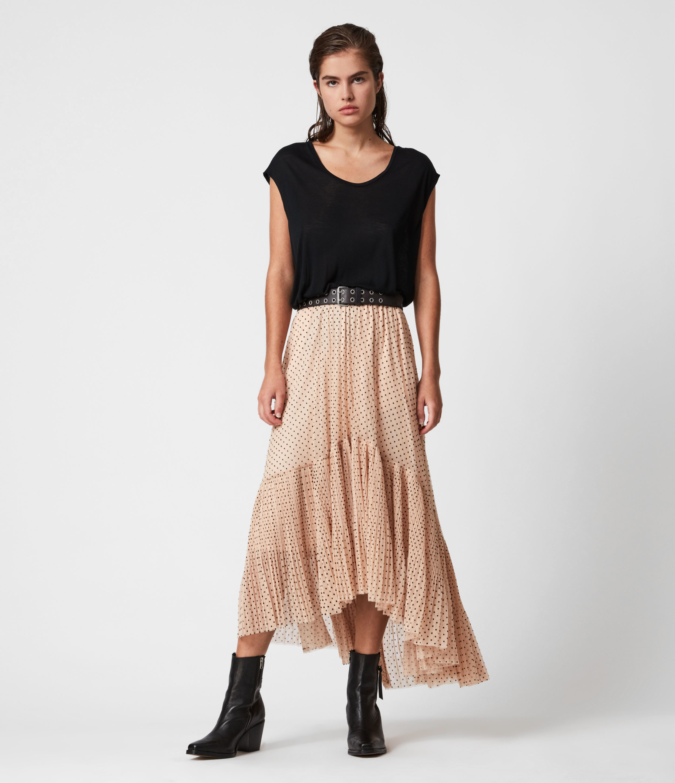AllSaints Aubrey Dot Skirt