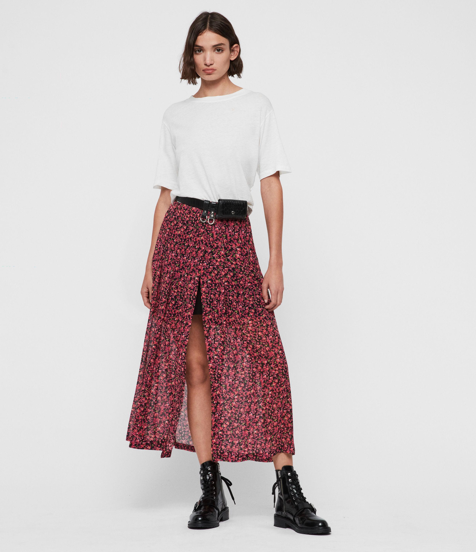 AllSaints Drea Cheri Blossom Skirt