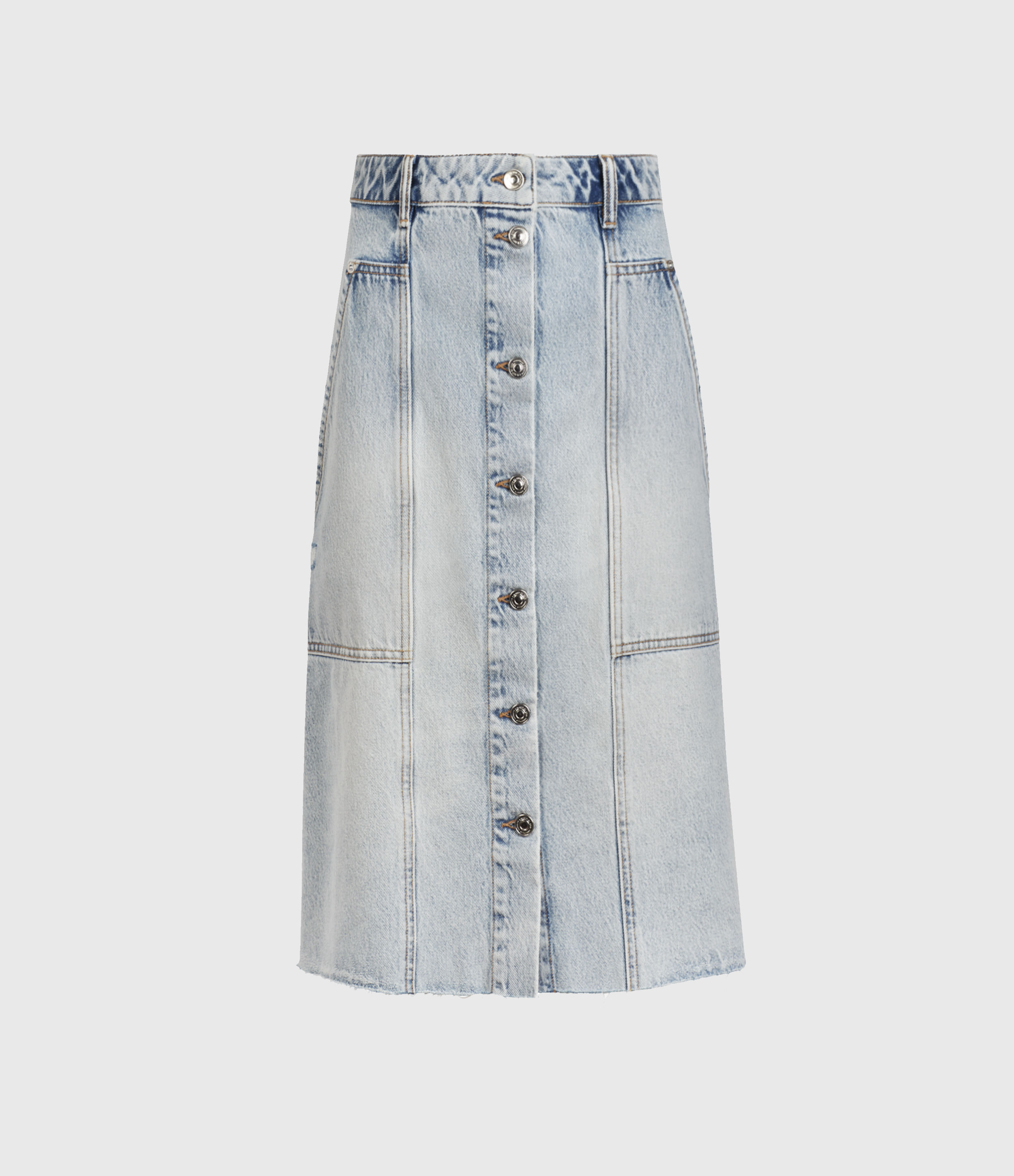 AllSaints Bonnie Denim Midi Skirt