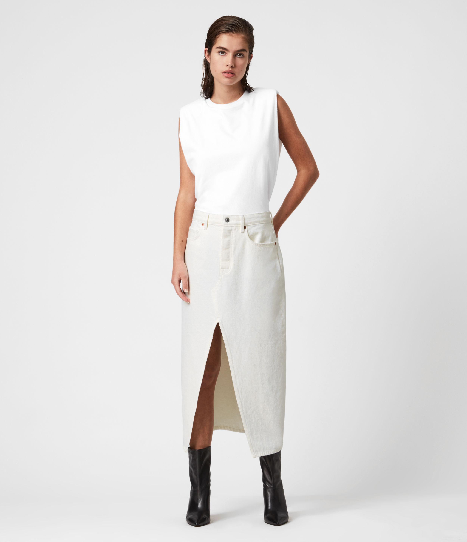 AllSaints Dottie Denim Maxi Skirt