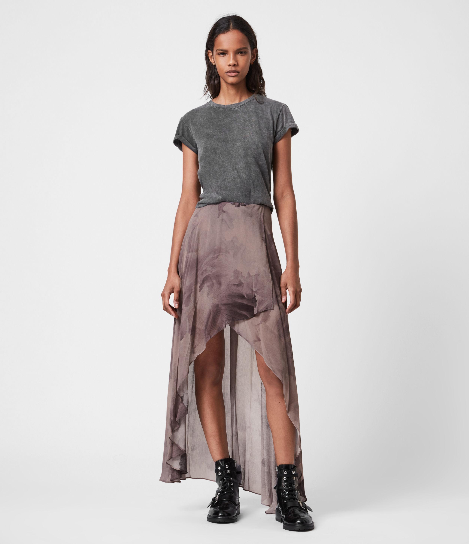 AllSaints Womens Slivina Nubila Rock, Mink Grey, Size: 10