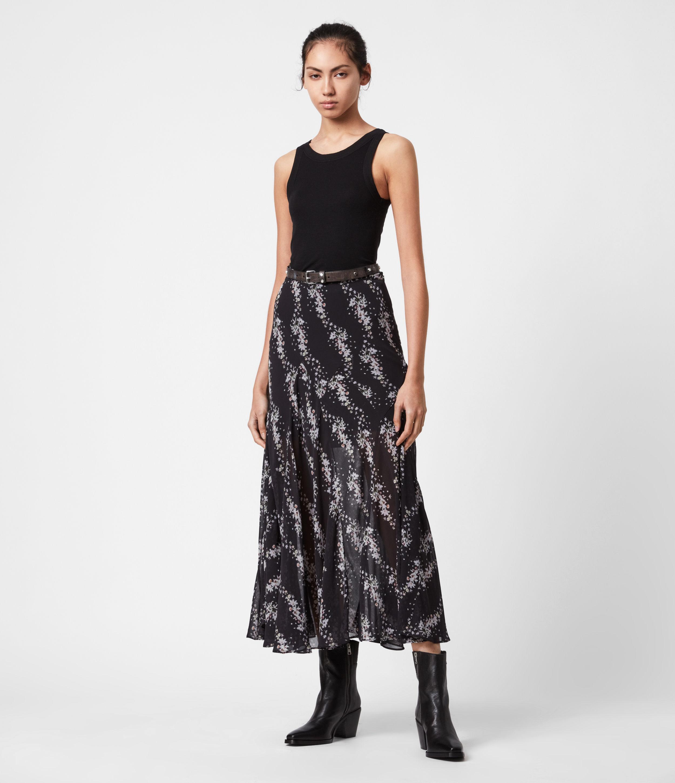 AllSaints Women's Primina Cultivar Skirt, Black, Size: 4