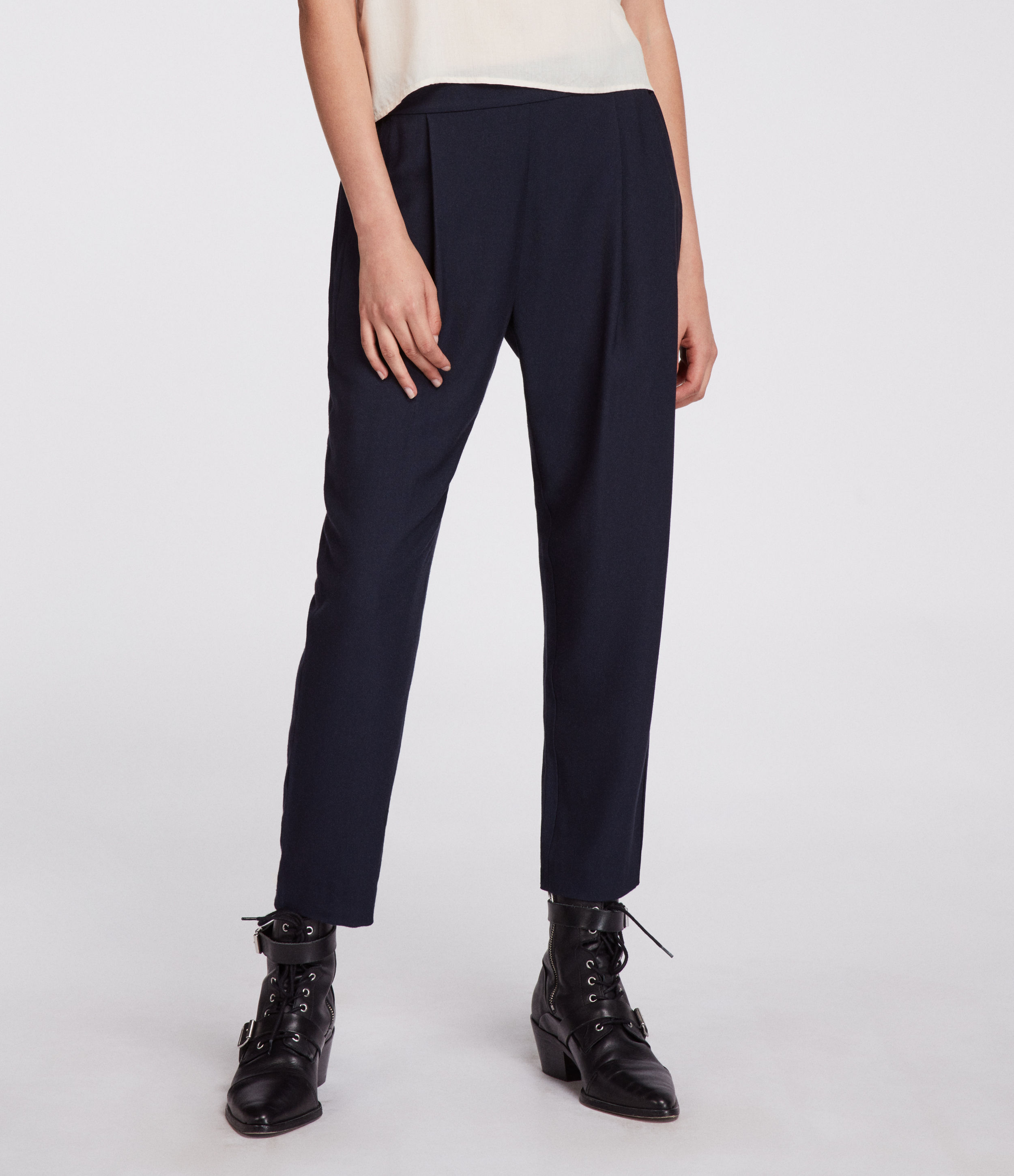 AllSaints Aleida Tapered Low-Rise Trousers