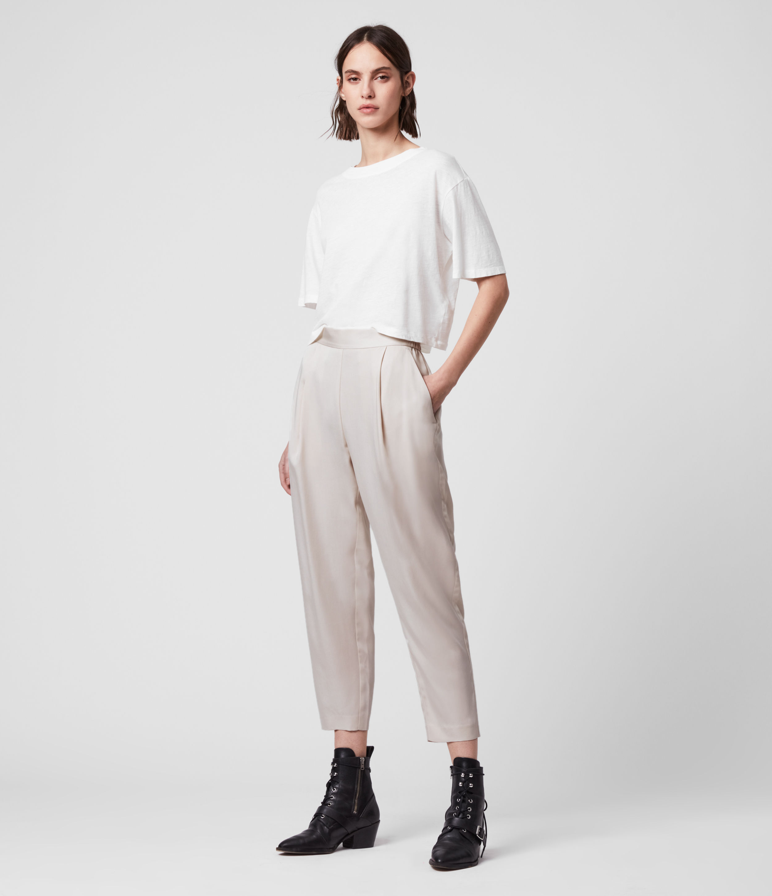 AllSaints Alva Tapered Low-Rise Trousers