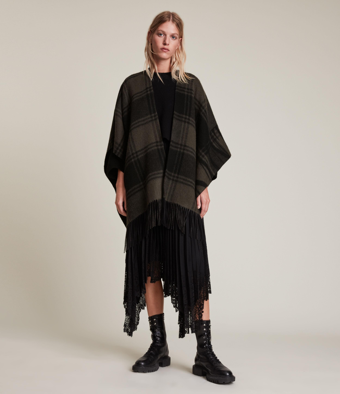 AllSaints Phoenix Ruana Wool Scarf