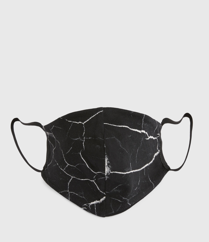 AllSaints Women's Cotton Hope Print Face Mask, Black and White, Size: 16x21.5x6.5cm