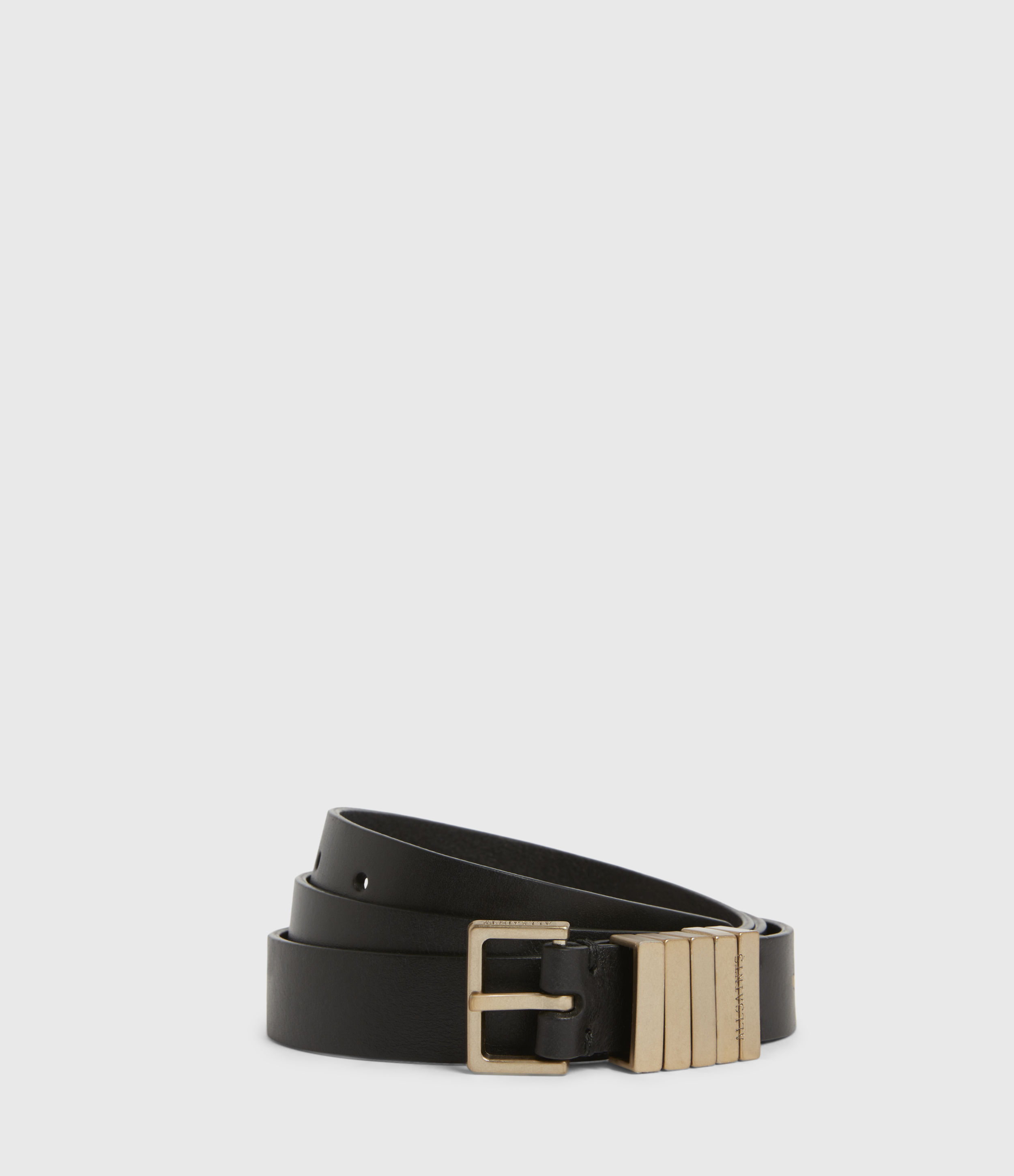 AllSaints Jet Skinny Leather Belt
