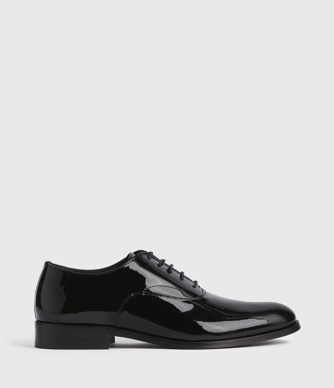 AllSaints Maxim Leather Lace Up Shoes, Black, Size: UK 12/US 13/EU 46