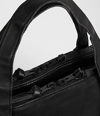 Mens Meguro Leather Work Bag (Washed Black) - product_image_alt_text_2