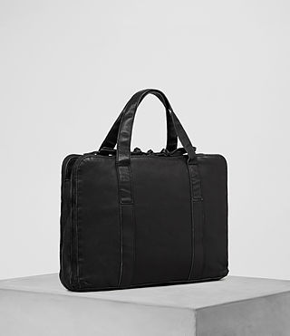 Mens Meguro Leather Work Bag (Washed Black) - product_image_alt_text_3
