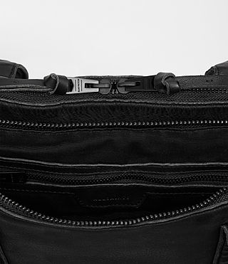 Mens Meguro Leather Work Bag (Washed Black) - product_image_alt_text_4
