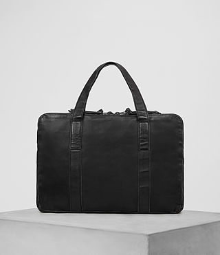Mens Meguro Leather Work Bag (Washed Black) - product_image_alt_text_5