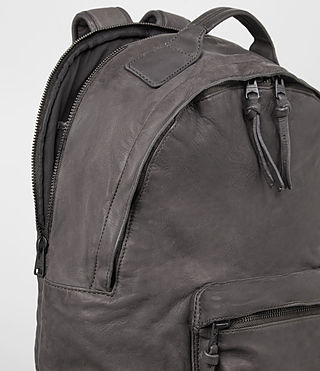 Hommes Hart Leather Rucksack (Slate Grey) - product_image_alt_text_2
