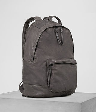 Hommes Hart Leather Rucksack (Slate Grey) - product_image_alt_text_3