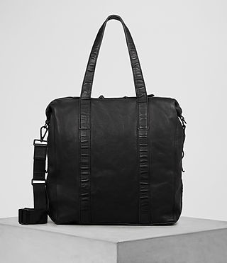 Herren Meguro Leather Tote (Washed Black)