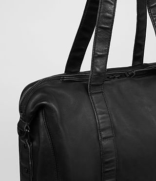 Herren Meguro Leather Tote (Washed Black) - product_image_alt_text_2