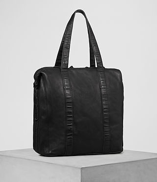 Herren Meguro Leather Tote (Washed Black) - product_image_alt_text_3