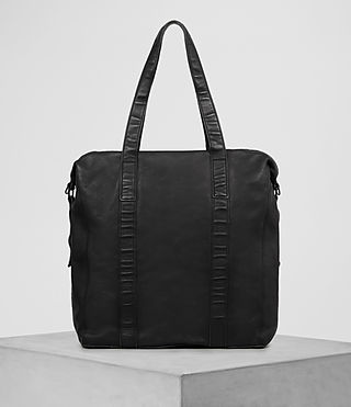 Herren Meguro Leather Tote (Washed Black) - product_image_alt_text_5