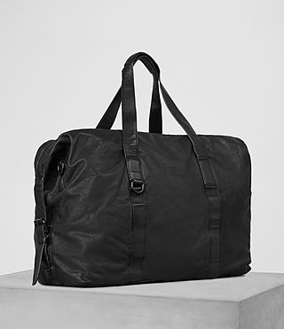 Mens Hart Leather Holdall (Washed Black) - product_image_alt_text_3