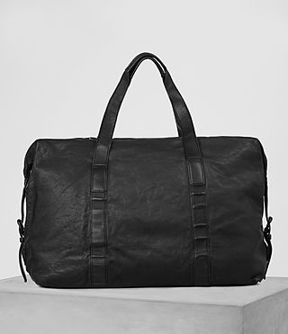 Mens Hart Leather Holdall (Washed Black) - product_image_alt_text_5