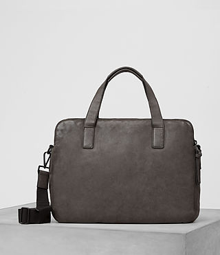 Uomo Hart Leather Workbag (Bitter Brown)