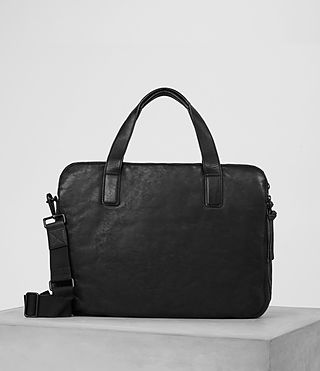 Hombre Hart Leather Workbag (Washed Black)