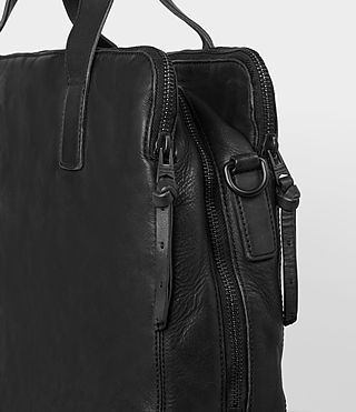 Mens Hart Leather Workbag (Washed Black) - Image 2