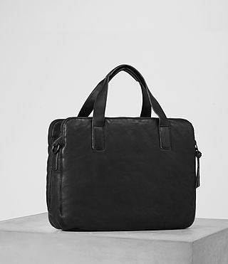 Mens Hart Leather Workbag (Washed Black) - Image 3