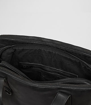 Mens Hart Leather Workbag (Washed Black) - Image 4